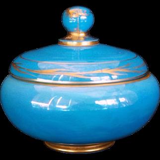 Cambridge Glass Azurite Covered Bon-bon