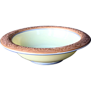 Lovely Cambridge Ivory Bowl with Enameling and Gold Etch