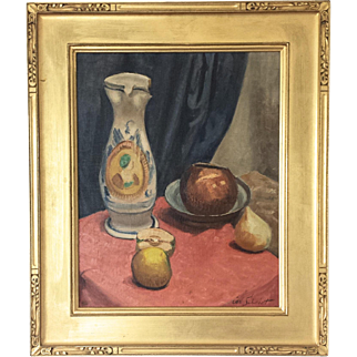 Arts & Crafts Still Life by Listed California Artist