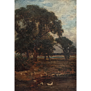 Evening Scene with Ducks by Frederick Whitehead (1853-1938)