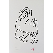 "Original John Lennon (1940-1980) Serigraph ""The Hug"", Yoko Ono Provenance"