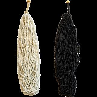 Pair of Vintage Naga Bead Necklaces