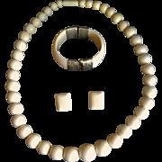 Lovely Vintage Assembled Set of Bone Jewelry