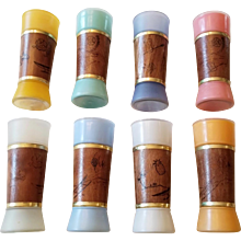 Great Set of 1960's Siesta Ware Tiki Bar Highball Glasses