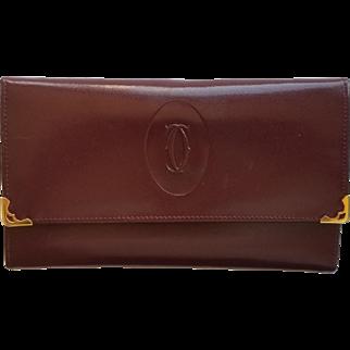 Vintage Cartier Leather Ladies Travel Wallet