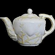 Belleek Porcelain Shell Pattern Tea Pot - Red Tag Sale Item