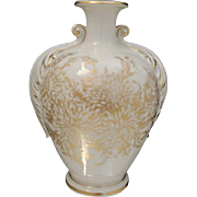 Vintage American St Regis Vase Cream and Gold Floral Porcelain