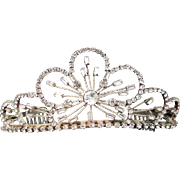 Vintage Tiara Wedding Crown / Crystal Wedding Tiara / Rhinestone Bridal Tiara / Bridal Headpiece / Communion Tiara / Tiara / Hair Accessory