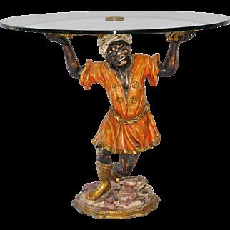 Coffee Table Blackamoor Statue Italian GREAT Model
