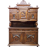 Antique French Breton Cabinet Beautiful Art in Furniture