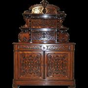 Stunning Antique French Server Beautiful Mahogany Model Wonderful Carved Design