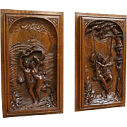 Fabulous French Renaissance Panels, Beautiful, Romance From the French Renaissance, 19th Century