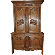 Antique French Country Cabinet Normandy Oak Elegant Beauty 18th Century