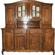 French Country Cabinet Dining Room Furnishings Oak Wonderful Original Patina