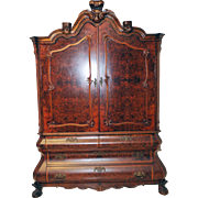 GRAND  Dutch Dining Cabinet Walnut GREAT For Flat Screen TV as Well