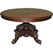 Antique French Hunt Table, Oak, 19th Century