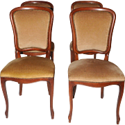 Value Priced French Art Deco Chairs in Walnut 1940s