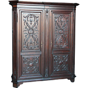Antique French Cabinet Bedroom Armoire Walnut Circa 1900 Nice Quality Model