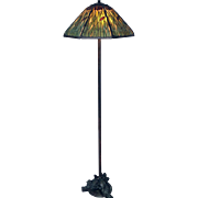 Handel Floor Lamp RARE Griffin Base with Cattail Overlay Shade