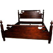 Impressive King Size Federal Style Bed