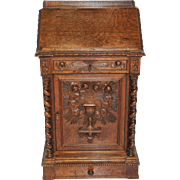 Stunning Antique French Bible Stand or Lecturn, 19th Century, Oak