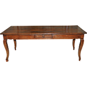 Antique French Farm Table RARE SPECIAL Cherry Wood Model Dining Extensions 19th Century