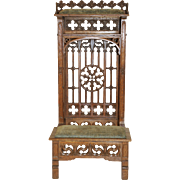 Antique French Gothic Religious Prayer Chair or Church Kneeler