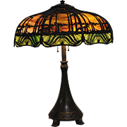 Handel Sunset Palm Overlay Table Lamp With Matching S Pattern Base