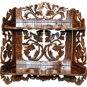 Antique French Black Forest Wall Rack or Shelf, 19th Century