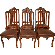 Vintage French Provincial Dining Room Chairs, Set of Six