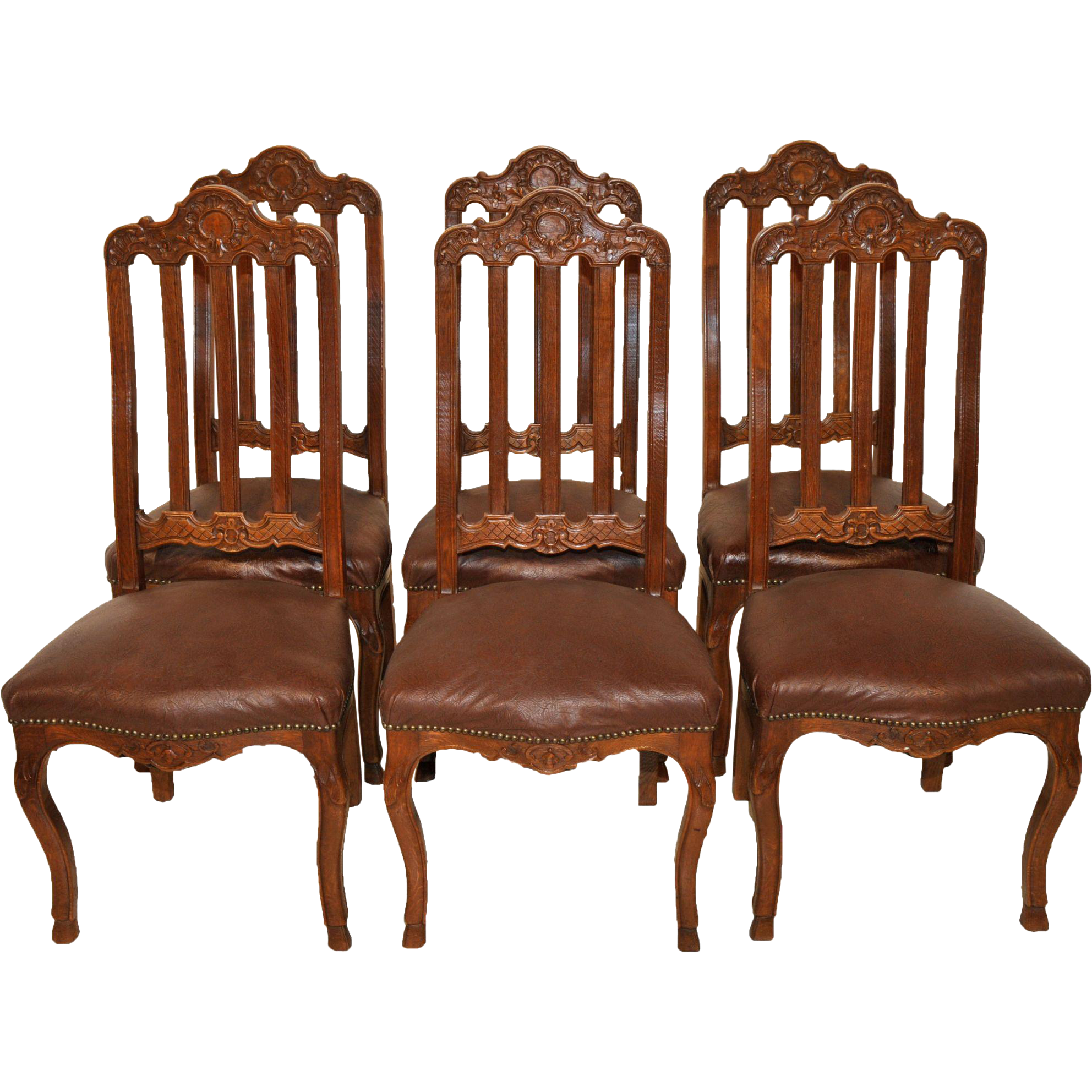 Vintage French Provincial Dining Room Chairs Set Of Six