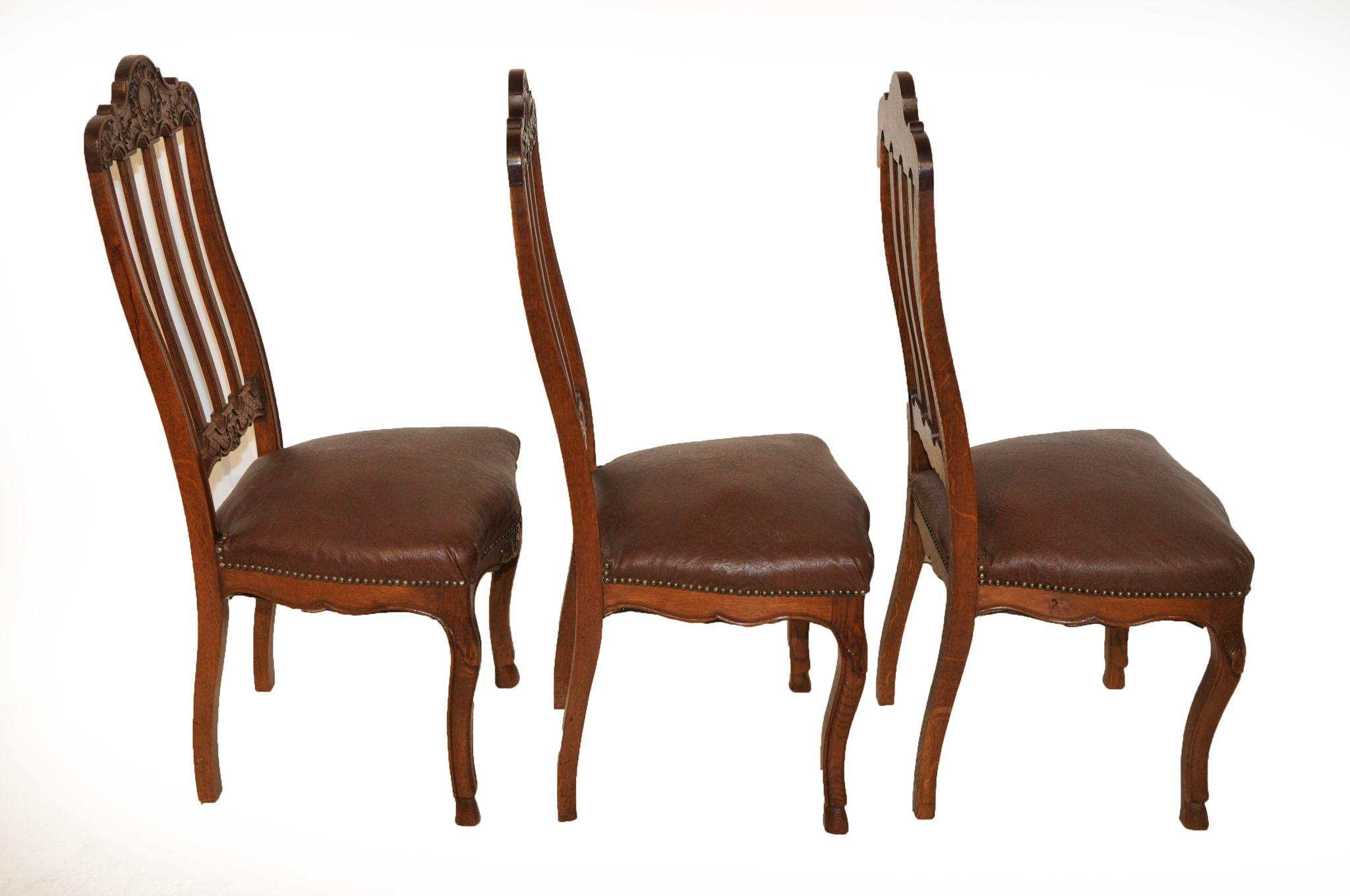 Vintage French Provincial Dining Room Chairs, Set of Six ...