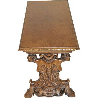 Vintage French Gothic Coffee Table with Centaur Carvings