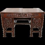 Enchanting Antique French Renaissance Desk, Barley Twist Legs, Turn of Century, Oak