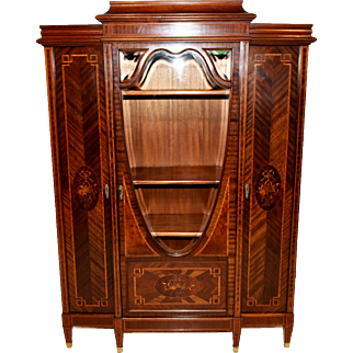 Terrific Vintage French Bookcase with Inlay's, 1920-40's