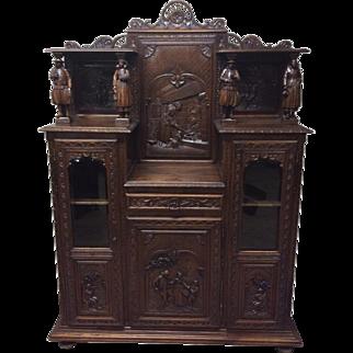 Outstanding French Breton Antique Cabinet, Oak, Circa 1900's