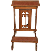 French Gothic Church Kneeler Prayer Chair, Oak