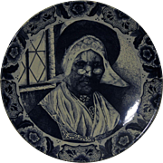 Blue Delft Charger, Dutch Woman