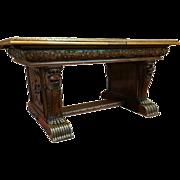 Wonderful Belgium made Bruegel Dining Table, Oak Circa 1920-40's