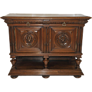 Antique Henry II French Renaissance Server, Walnut, 19th Century