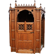 Antique Religious Church Confessional in Oak dating from the 19th Century