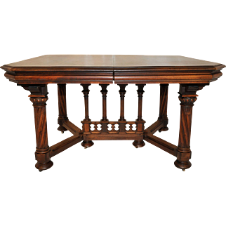 Antique French Gothic Table, Walnut, Great Value, Late 19th Century