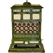 Antique French Stove, 19th Century, Iron & Porcelain