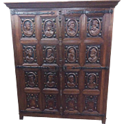 Interesting Antique French Renaissance Cabinet or Armoire