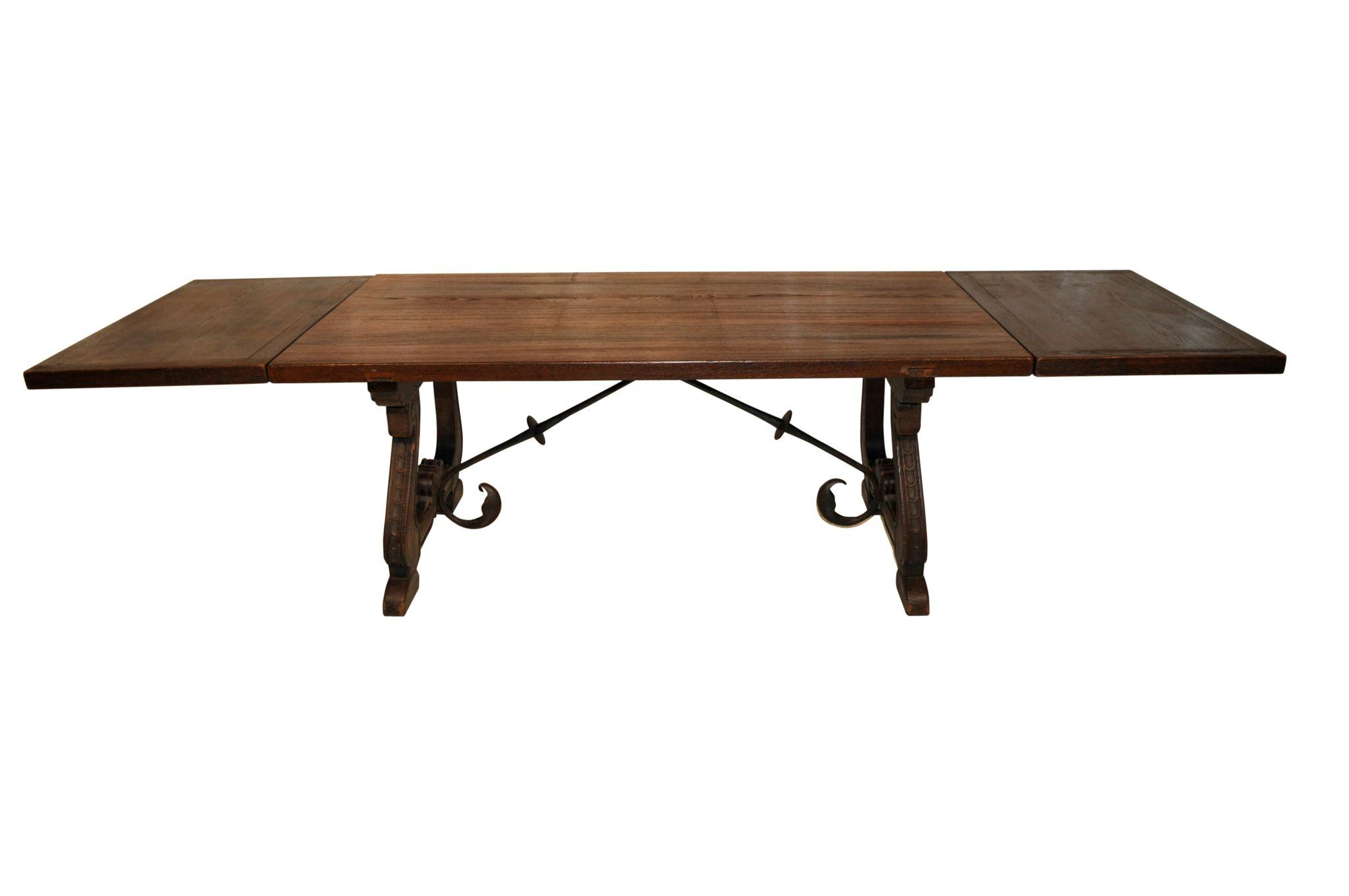 Spanish Monastery Table Oak 1920 s Nice Rustic Table from