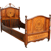 Attractive Vintage French Thonet Bed & Nightstand