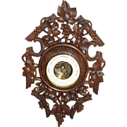Special Antique French Black Forest Barometer, Oak, late 19th Century