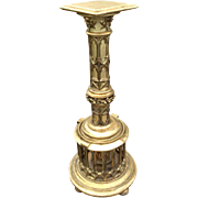 Attractive & Interesting Antique French Gothic Pedestal, 19th Century