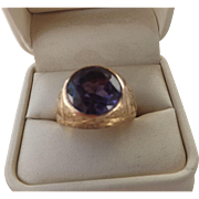 Antique 14 Kt. Gold Sapphire   Ring  C.1900