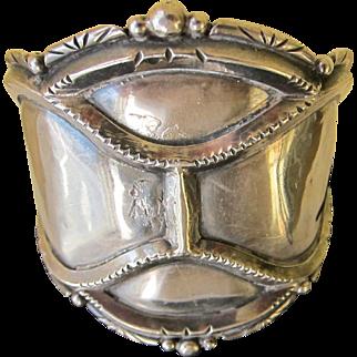 Beautiful Vintage Navajo Sterling Silver Cuff   C.1950